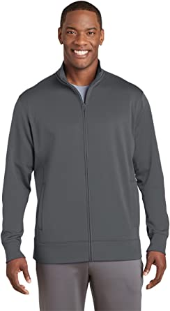 Sport-Tek Mens Sport-Wick Fleece Full-Zip Jacket (ST241) -Dark ...