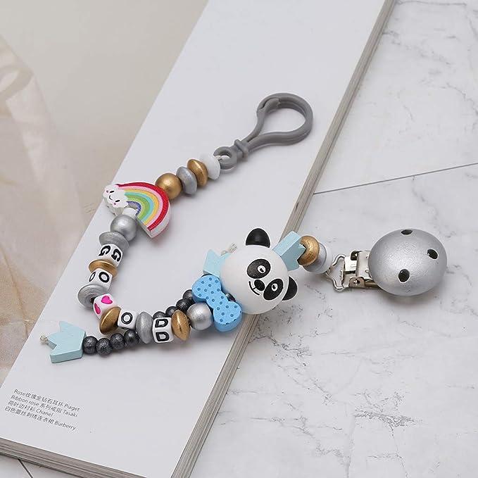 ZChun Cadena para Chupete diseño de Panda y Arco Iris, 4 ...