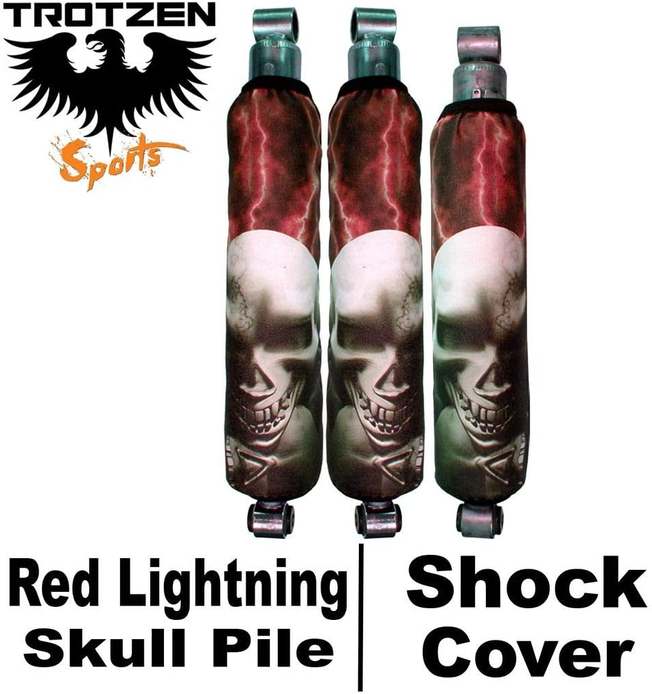 Trotzen Sports Shock Cover Compatible With Yamaha blaster Red Lightning Skull Pile Shock Cover #pht12700 TTS4710