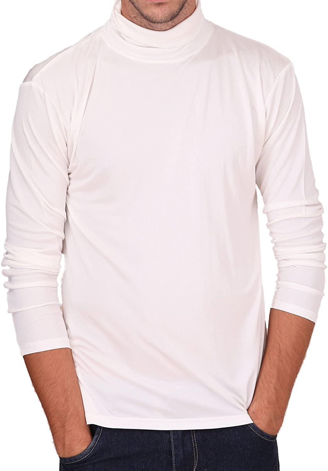 Paradise Silk Pure Silk Knit Mens Turtleneck Comfy Top at  Men's Clothing store