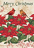 Cheap Lang – Mini Garden Flag – Poinsettia, Exclusive Artwork by Tim Coffey – All-Weather, Fade-Resistant Polyester – 12″ w x 18″ h