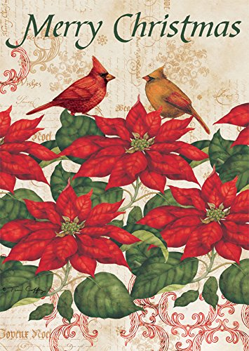 Lang - Mini Garden Flag - Poinsettia, Exclusive Artwork by T