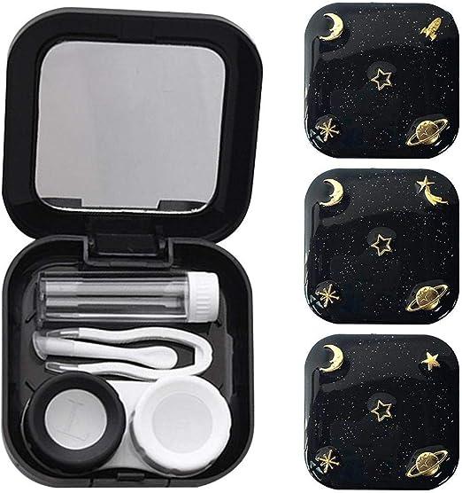Sunneey Caja de Lentes Kit de Viaje Estuche Lentillas, Soporte de plástico portátil para Almacenamiento de Gafas para Mujer: Amazon.es: Hogar