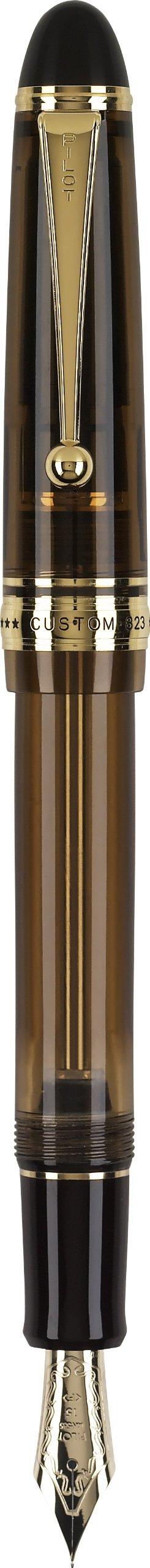 Pilot Custom 823 Fountain Pen, Amber Barrel, Blue Ink, Medium Nib (60556) by Pilot (Image #1)