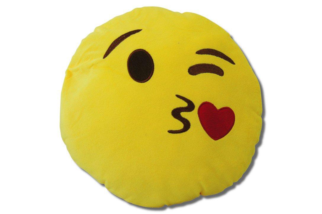 Katara 1788 Cojín Redondo Emoji Almohadilla Emoticono Whatsapp, Almohada Smiley De Peluche, Para Sofá - Dólar