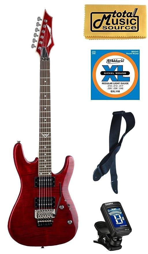 Dean Guitars C350 F TRD Pack, Floyd Rose Guitarra eléctrica rojo ...