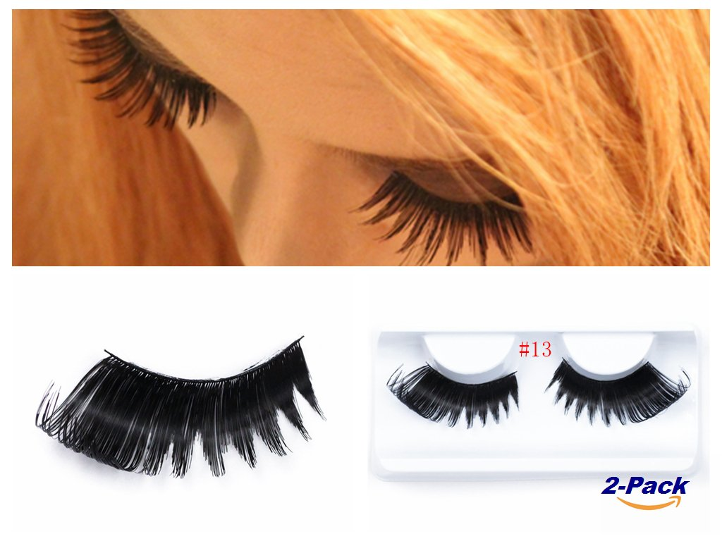 Fashion Long Thick False Eyelashes Reusable Fake Eyelash Extension Women 2 Pack (13) Ltd