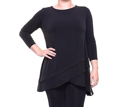 94e21c708ba7b Alfani Womens Matte Jersey Layered Casual Top at Amazon Women s Clothing  store