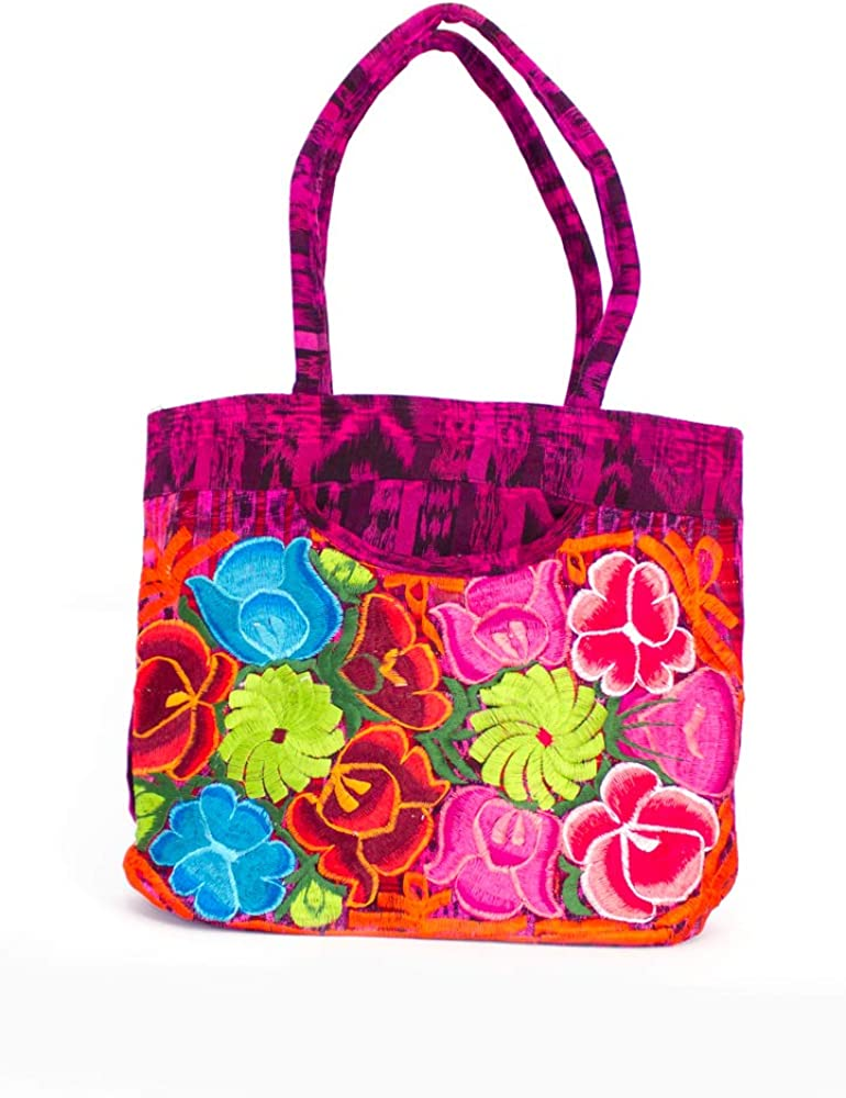Medium, Multicoloured Artesanal Handmade Hangbag from Riviera Maya