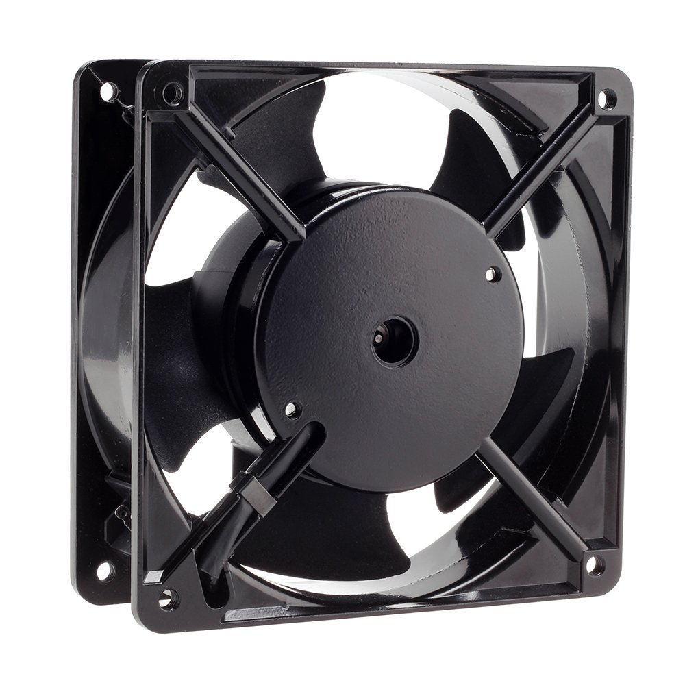 120mm Fan,Zhanye Muffin 1238 AC 120V Computer Axial Cooling Fan, High Speed Exhaust with Metal Net and 4-feet Power Cord by Zhanye (Image #4)