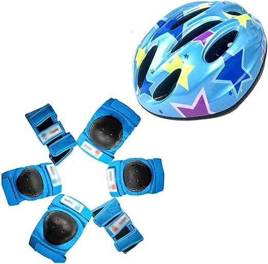 OhLt-j Conjunto de Casco y Almohadilla de Bicicleta for niño y ...