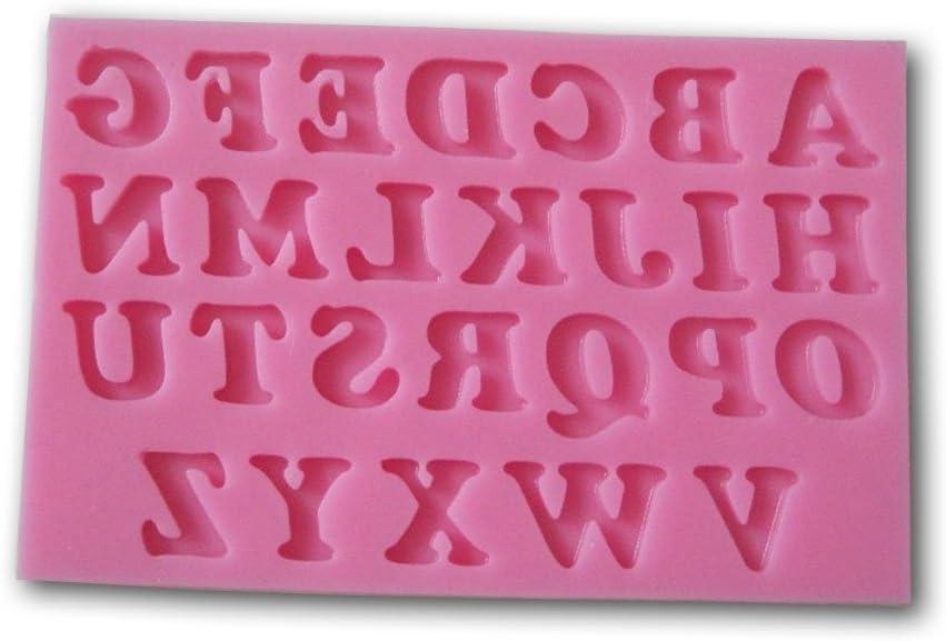Tjian 3D-Silikonform mit russischen Buchstaben S/ü/ßigkeiten Seife Fondant f/ür Kuchen Backwerkzeug Schokolade Handschrift K/üche Alphabet Pudding
