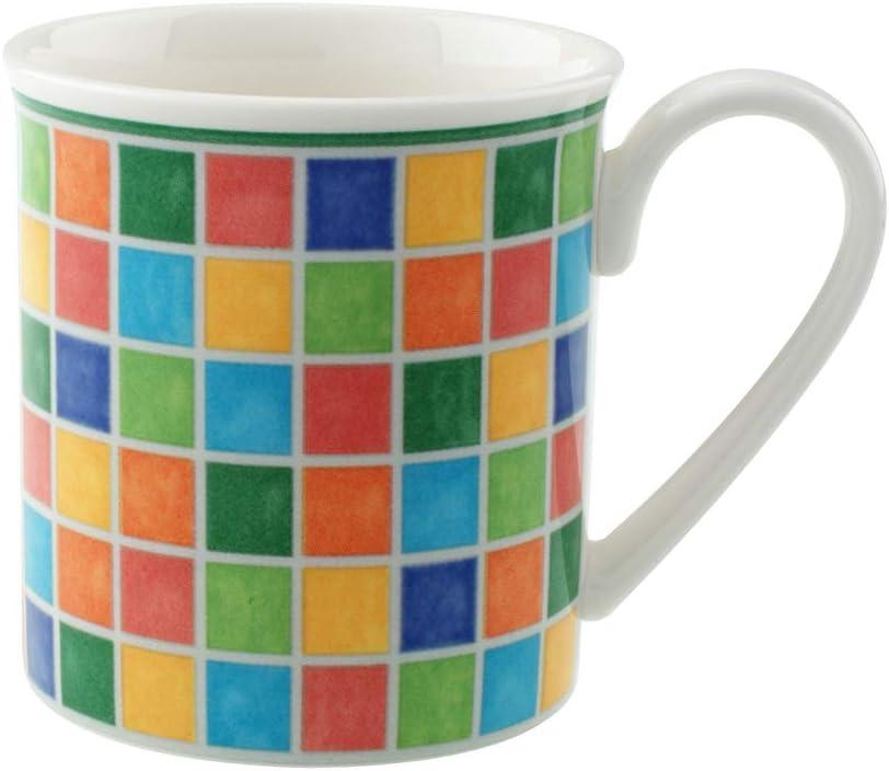 Villeroy & Boch Twist Alea Limone Mug, 10 oz, White/Yellow