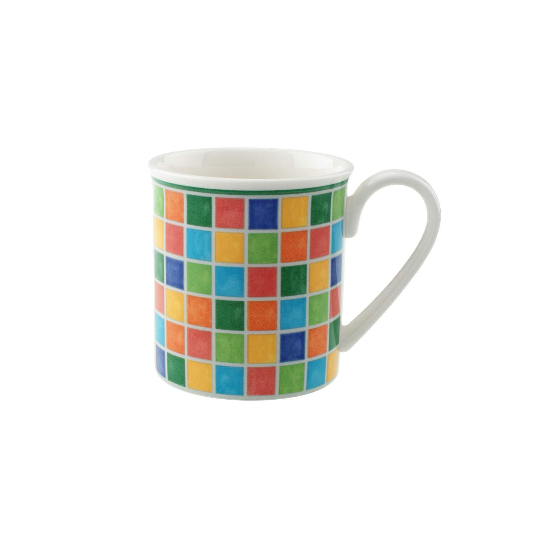 Villeroy & Boch Twist Alea Limone Coffee Mug Maofof Premium Porcelain with Colourful Ornamentation, Yellow/White 300 ml