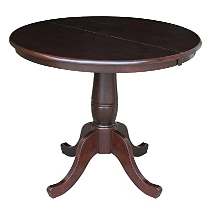 Amazoncom International Concepts 36 Inch Round Top Pedestal Table