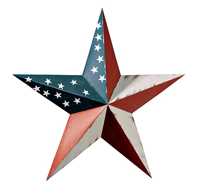 Miles Kimball 341684-840853123187 Maple Lane CreationsTM American Barn Star, One Size Fits All All, Multi