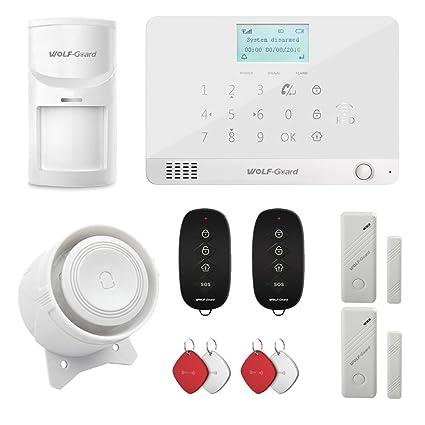 Wolf Guard MR1 GSM pantalla LCD sistema de alarma de seguridad para el hogar, auto