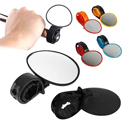 Trading Universal Bike Mirror 360° Rotating Handlebar Glass Mirror Convex Safety Mirror Bicycle Rearview Mirror Mountain Road Bike Cycling Bicycle (Black) : Sports & Outdoors