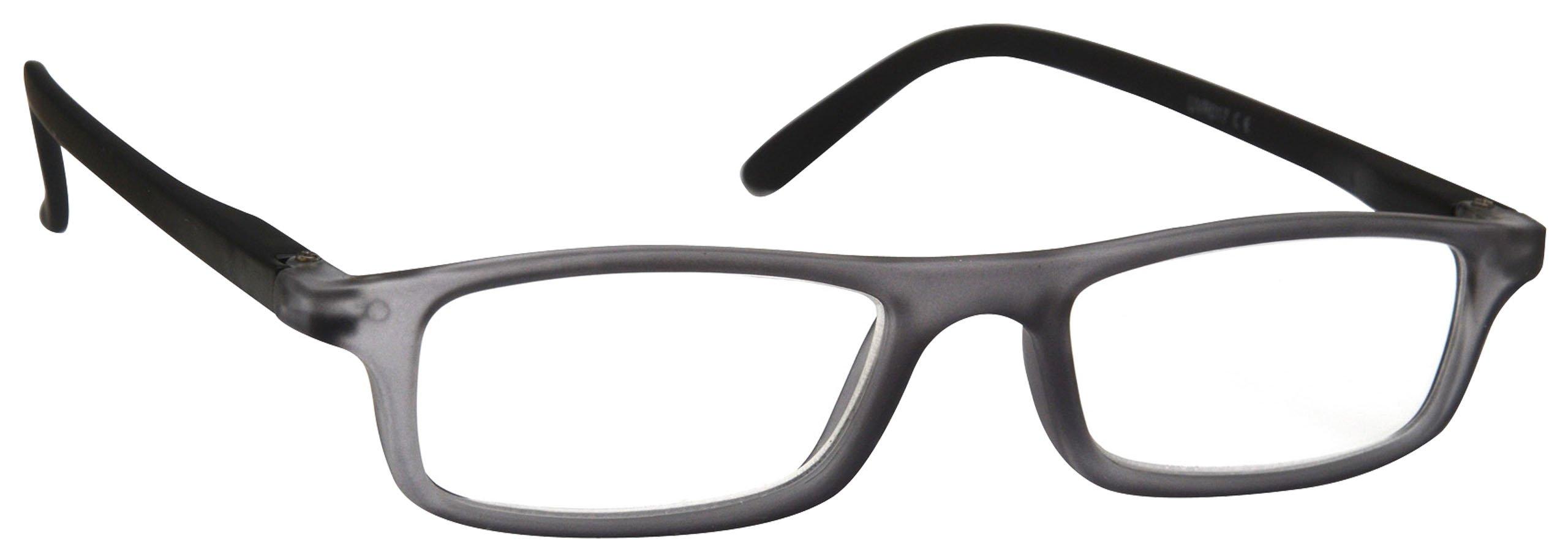 The Reading Glasses Company Matt Grey Black Lightweight Readers Designer Style Mens Womens R17-7 +1.00