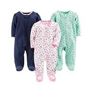 [Sponsored]Baby Girls' 3-Pack Sleep and Play