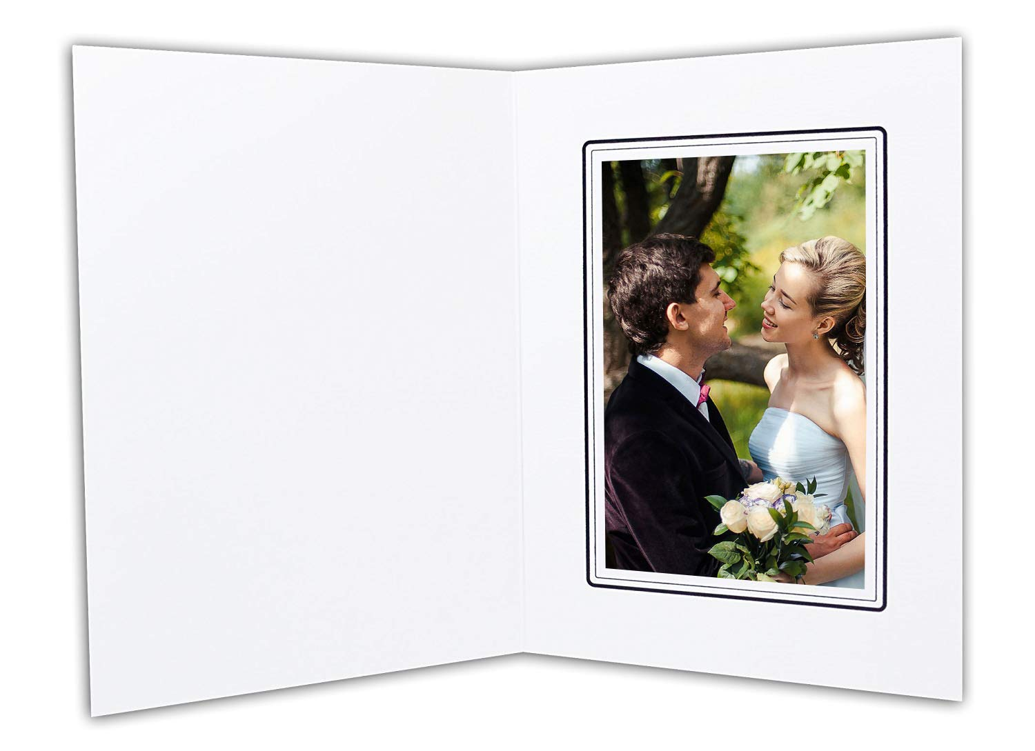 Golden State Art, White Cardboard Photo Folder for a 4x6 Photo - 100 Pack by Golden State Art
