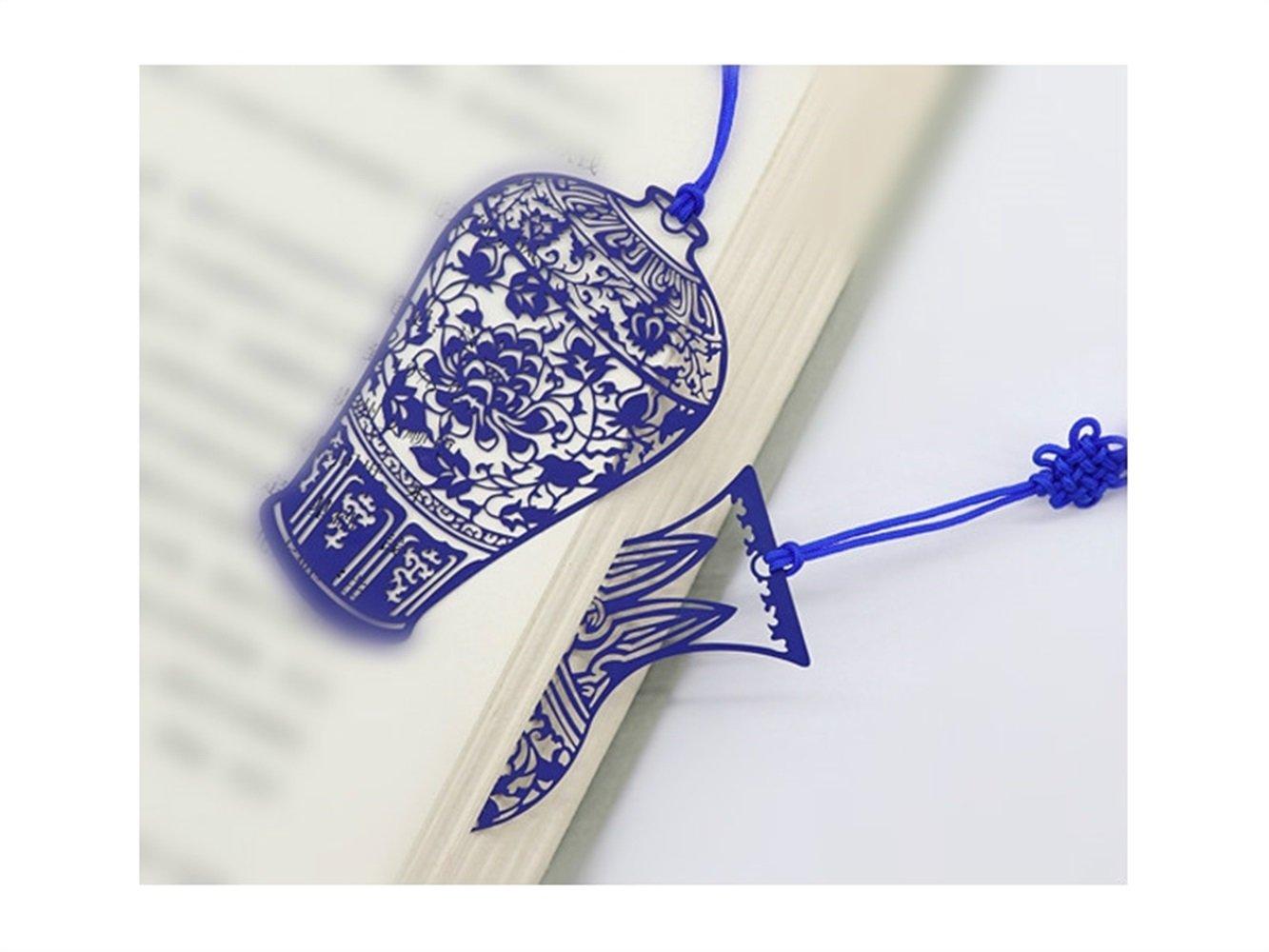 HNBGY Delicado Marcadores de Porcelana Azul y Blanca de ...