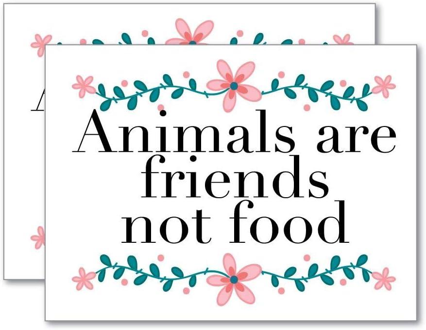 2X Animals are Friends Not Food Sticker Decal Vegan Vegetarian Laptop Planet