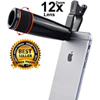 Meya Happy® 12X HD Zoom Mobile Camera Telescope Lens for Android/Apple Smartphones.
