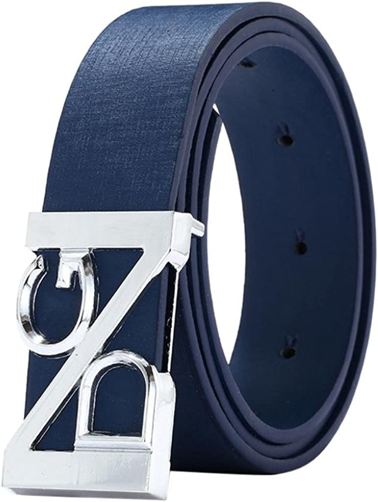 Leather Belt for Man Shybuy Mens Casual Jean Belt Fashion Leather Thin Belt Design Buckle