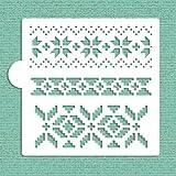 Fair Isle Pattern Cookie and Craft Stencil CM030 by Designer Stencils