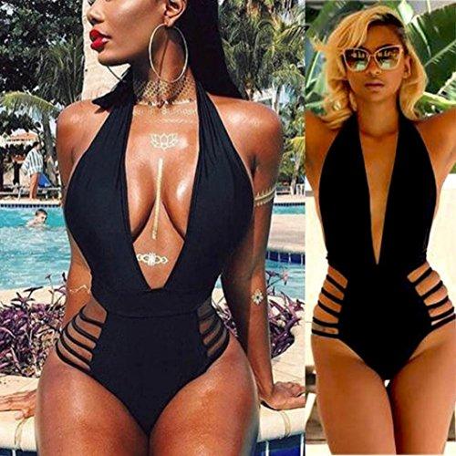 Longra ☀Traje de baño de una pieza, traje de baño de alta corte Beachwear Bikini