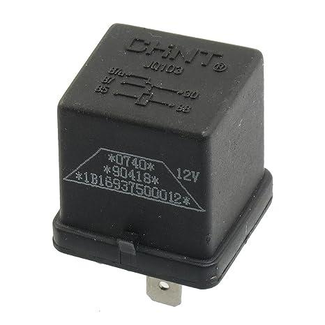 sourcing map Sourcingmap® 15mm Carril Tipo de Interruptor de energía del Coche de relé NA