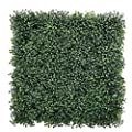 "ULAND 12 Pcs Pack 20"" by 20"" Size Artificial Faux Hedges DIY Panels, Boxwood Greenery Ivy Privacy Fence Landscaping Screening Green Wall, for Home Garden Balcony Outdoor Indoor Decoration"