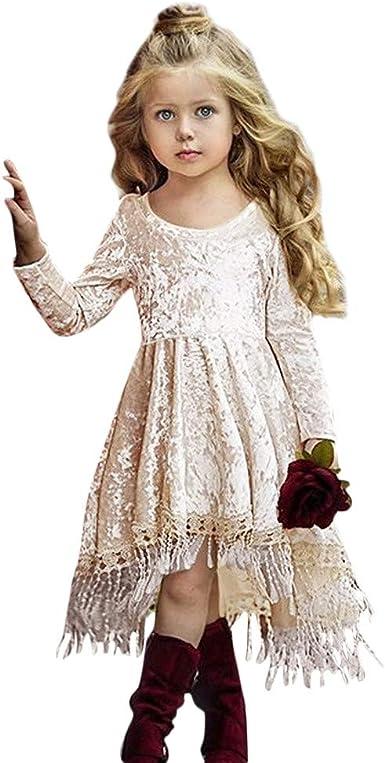 K-youth Vestido Niña Fiesta Ropa para Recién Nacido Infantil Bebé Niñas Invierno Borla Vestido de Princesa Chica Vestido De Niñas Vestido Bebe Niña Vestido De Fiesta para Niña Ofertas: Amazon.es: Ropa y
