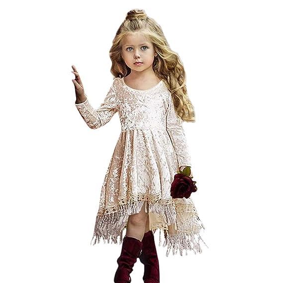 K-youth Vestido Niña Fiesta Ropa para Recién Nacido Infantil Bebé Niñas Invierno Borla Vestido de Princesa Chica Vestido De Niñas Vestido Bebe Niña ...