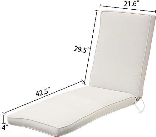 Aoodor Patio Chaise Lounger Cushion Olefin Fabric Slipcover Sponge Foam Review