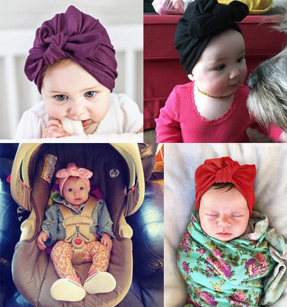 Haorw Baby M/ütze Neugeborene Weich Baumwolle Turban Kleinkind Stirnb/änder Baby M/ädchen Stirnband
