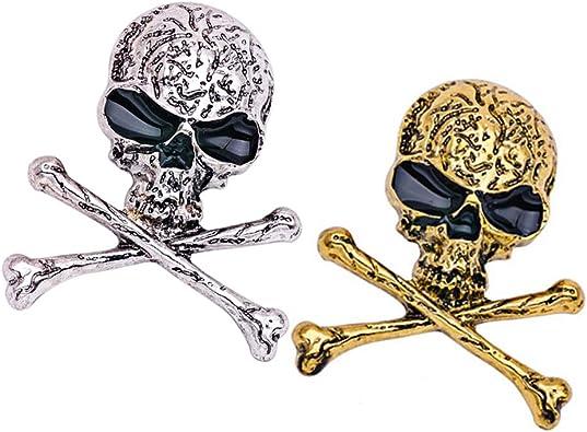 1 broche en cristal de crâne de Halloween en argent