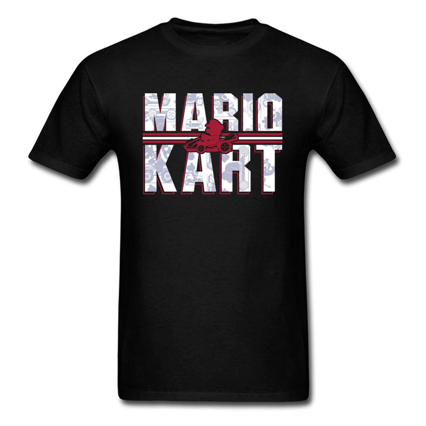 Mario Kart S Tshirt Printing Short Sleeve Tee