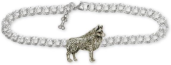 Schipperke Jewelry Sterling Silver Schipperke Tie Tack Handmade Dog Jewelry SC4-TT