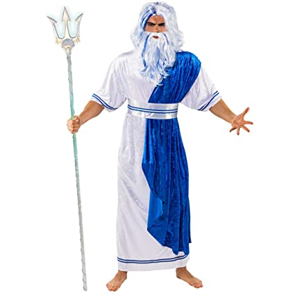 Extraordinario Traje Disfraz de Poseidón para Hombre ...