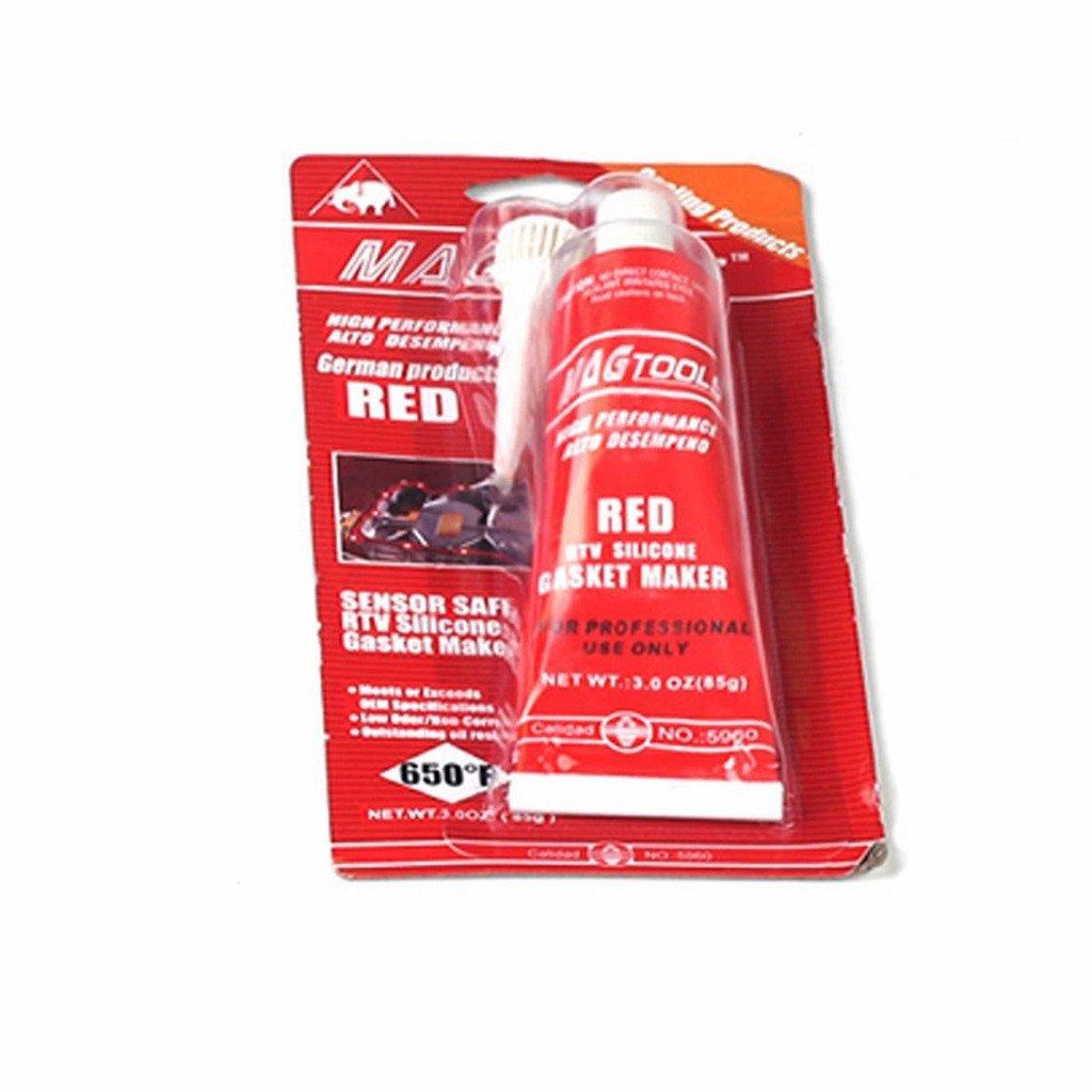 BLACKHORSE-Racing High Temp Master RTV Silicone Gasket Maker Sealant 3 oz Red blackhorseracing