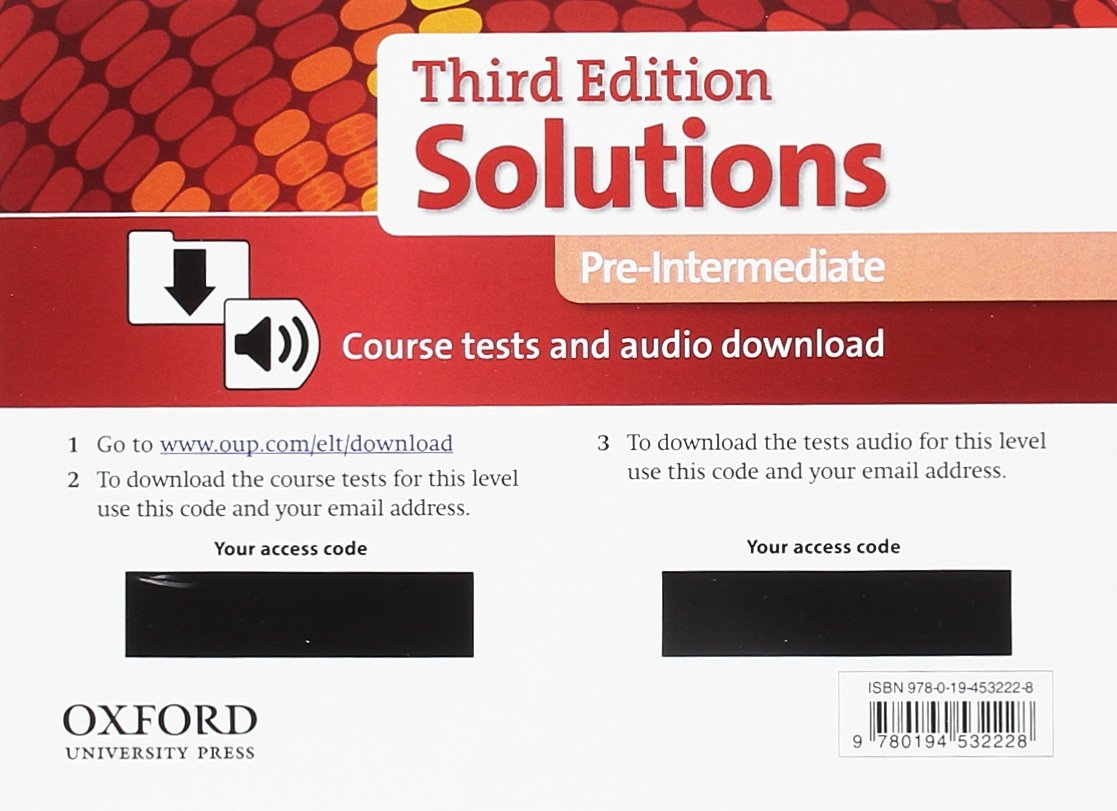 Download Solutions 3e Pre-intermediate Course Tests Pack ebook