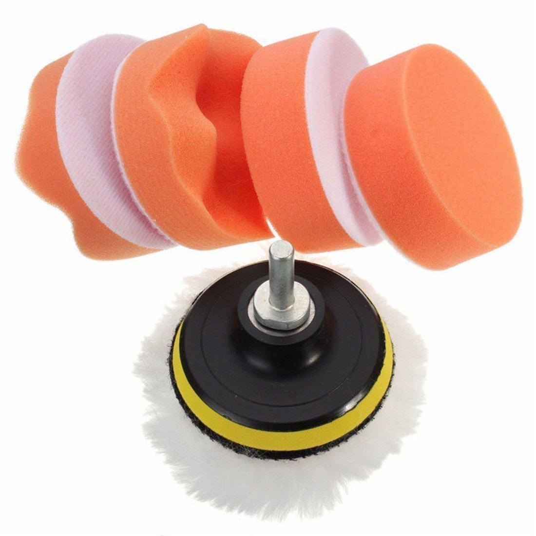 Buffing sponge - TOOGOO(R)M14 Car Adapter Kit Drill Polishing pad Pad Sponge Buffer Buffing NEW 3 INCH FEMSALBJBJ038