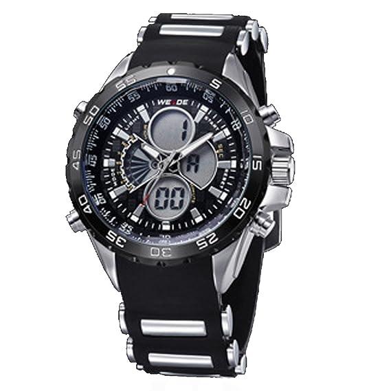 DOLIROX® Lujo Marca hombres reloj para la práctica de deportes (resistente al agua multifuncional Digital retroiluminación LED Militar relojes: Amazon.es: ...