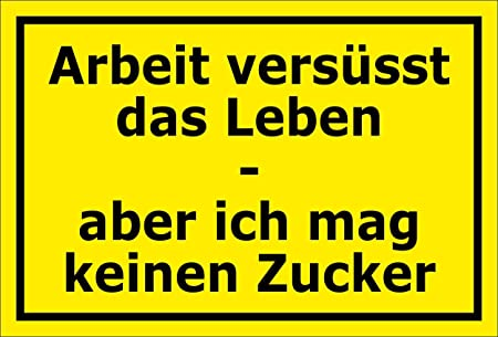 MelisFun - Cartel Divertido, diseño con Texto en alemán ...