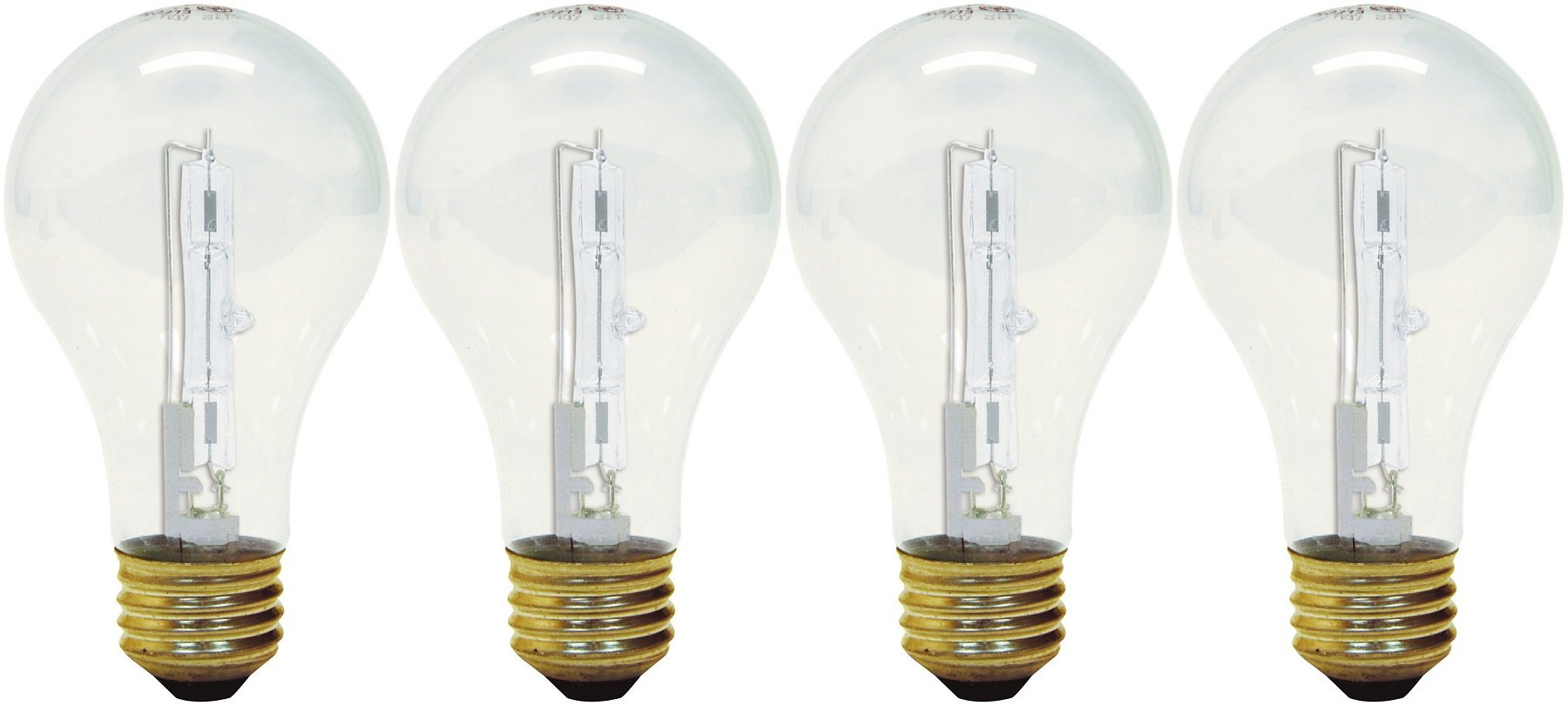 GE Lighting 043168787970 78797 Crystal Clear 53, (75-watt Replacement) 1050-Lumen A19 Light Bulb with Medium Base, 4-Pack, 4 Count