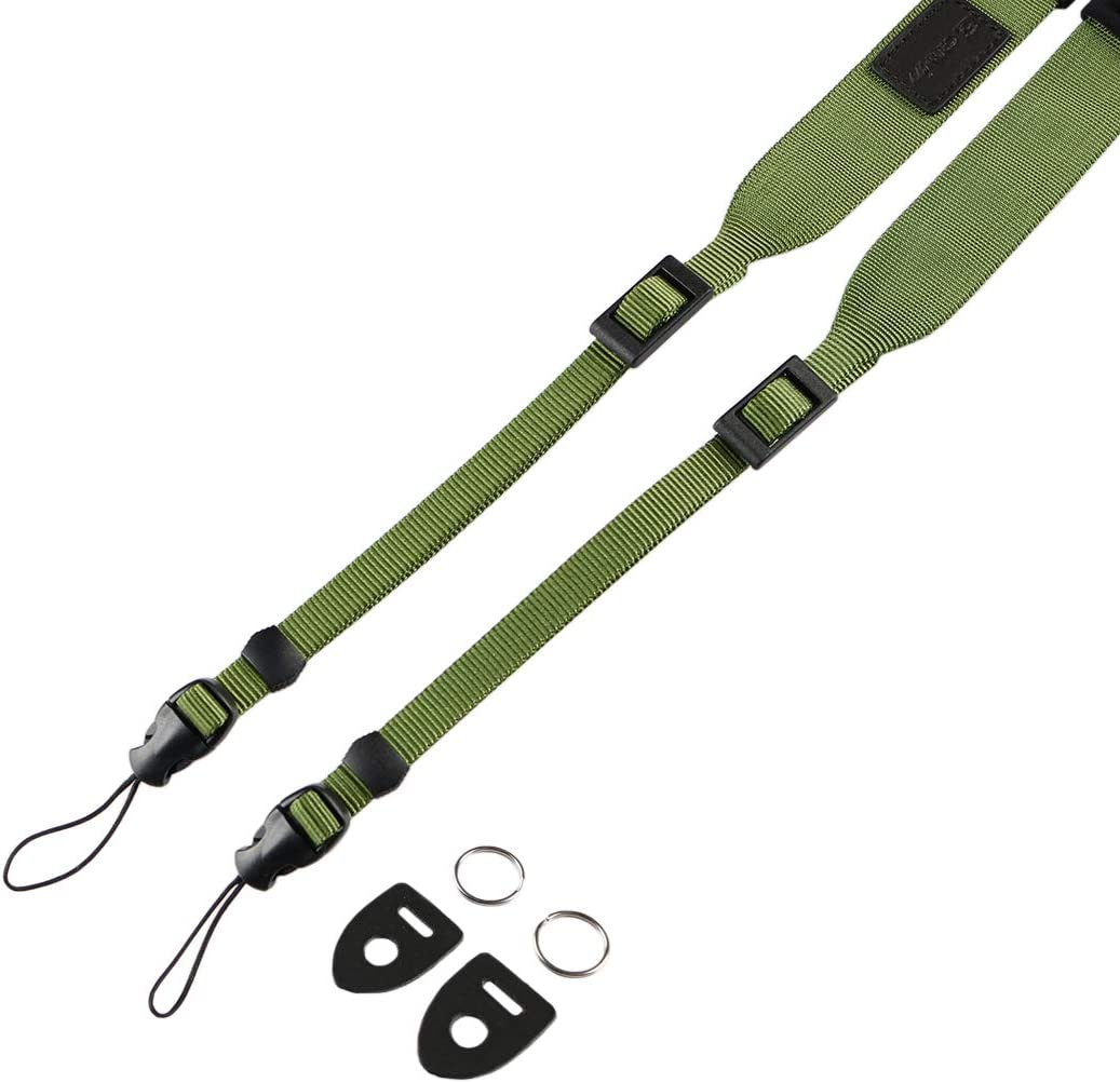 Willow Green Cam in Cotton Comfort Micro single SLR Camera Strap for SONY Black Card Ricoh and Other Cameras.