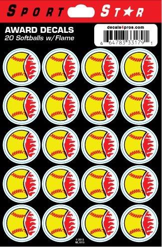 (SportStar Softballs w/Flames)