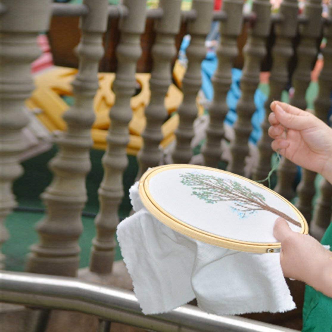 6 diverse dimensioni forma rotonda a mano in legno a punto croce macchina ricamo cerchio anello di bamb/ù strumento accessorio per cucire Color:wooden color